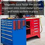 Olsa Tools Magnetic Socket Organizer | 3/8-inch