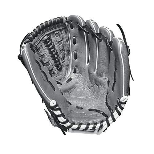 Wilson 2018 Siren Gloves - Right Hand Throw Graphite/White, 11.5'