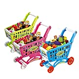 VKtech 31cm Mini Shopping Cart with Full Grocery Food Toy Playset for Kids New