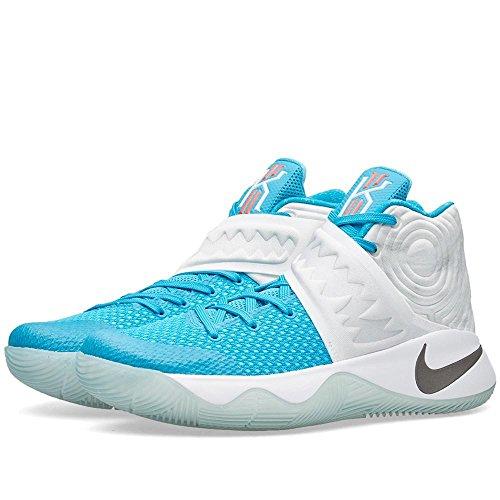 Nike Hommes Kyrie 2 Xmas, Blanc / Bleu-obsidienne Lagon-omega Bleu Blanc