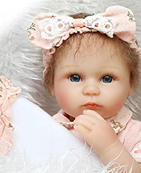 Reborn Baby Doll Handmade Lifelike Silicone Vinyl Newborn Dolls 17/'/' Girl Toy
