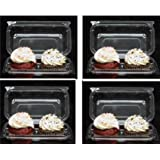 Cakesupplyshop P50KJ - 50pack Clear Plastic Standard Cupcake Muffin Double Cupcake Container Boxes -Holds 2cupcakes Each