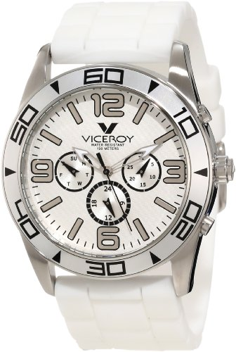 Viceroy Men's 40351-05 White Day Date Rubber Watch
