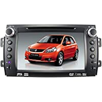 GPS Navigation DVD Player for SUZUKI SX4 2006-2012 with Bluetooth/SD/USB/FM/AM Radio/Steering Wheel Control/AV-IN/Free Map