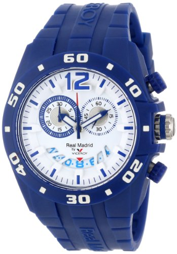 Viceroy Women's 432853-35 Real Madrid Sports Plastic Blue Rubber Date Watch