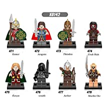 The Lord Of The Rings Lego Minifigure 8 Set Action Movie Figures Collectables (8 Pieces) Series Building Blocks with Lego Toy
