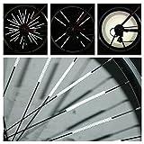 Bazaar 12 Pcs Bicycle Wheel Spoke Reflector Reflective Mount Clip Tube