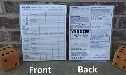 yardzee-score-card-with-rules-on-the-back-laminated-for-use-with-any-dry-erase-marker-not-included