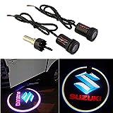 CHAMPLED® For SUZUKI Laser Projector Logo Illuminated Emblem Under Door Step courtesy Light Lighting symbol sign badge LED Glow Car Auto Performance Tuning Accessory