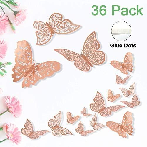 ForTomorrow Butterfly Metallic Decorative Gold%EF%BC%88Single Layer