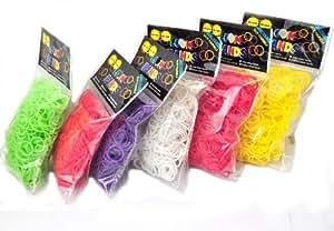 """Rainbow Loom Telar Gomas 7.200 unidades, 12 Diversos Colores Increíble Precio de venta más 288 Videos de """"S"""""""