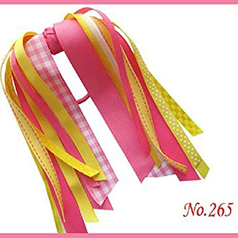 16 BLESSING Good Girl Pony O Hair Bow Ponytail Streamers