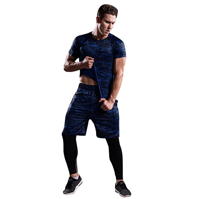 4409c3d67ba48 Cinnamou Conjunto de De los hombres Ropa deportiva Tops Pantalones cortos