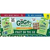 GoGo SqueeZ Cherry Vanilla Blueberry Applesauce 3.2 oz., 20 pk. A1