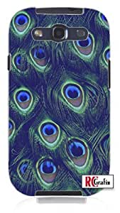 Sassy Colorful Peacock Feathers Skin Unique Quality Hard Snap On Case for Samsung Galaxy S4 I9500 - White Case