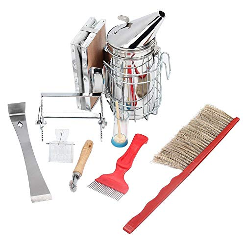 Beekeeping Tools Kit -8 Pcs. -Bee Hive Smoker, Beekeeping Accessory -Bee Keeping Tool