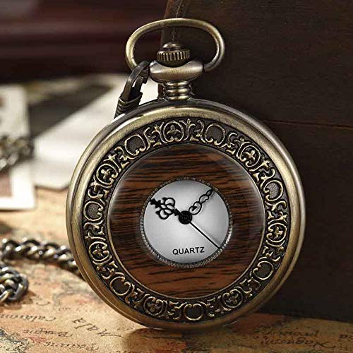 Pocket Watch | Box Package Solid Wood Mechanical | Chain Dial Hollow | Men Women Clock]()