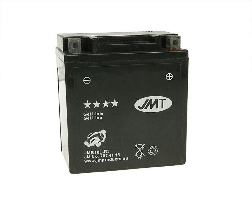 Batterie JMT GEL/ 2003 /jmb10l-b2/12/Volt/ /Piaggio//Vespa Beverly 200/GT M2820/Jahr der Konstruktion 2002