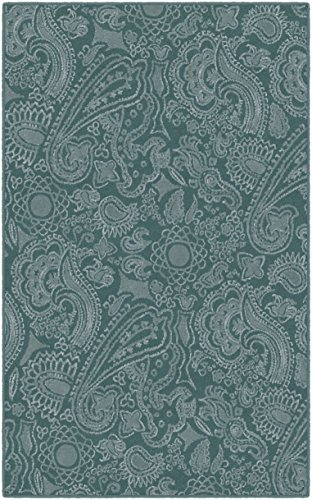 Brumlow Mills EW10040-40×60 Paisley Rug, 3'4″ x 5′, Teal For Sale