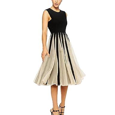 Elegante damen kleider knielang