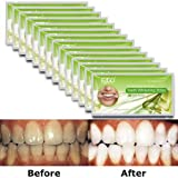 EZGO Teeth Whitening Strips - 28 Count 14 Days Course, Bonus Shade Guide Advanced New Formula, 6% HP, Whiten Your Teeth Faster (Strips)