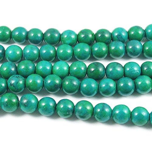 Round Azurite Chrysocolla Gemstone Beads 15