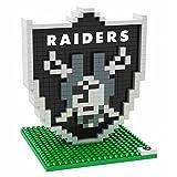 NFL Oakland Raiders Mini BRXLZ Logo Building Blocks, One Size, Black