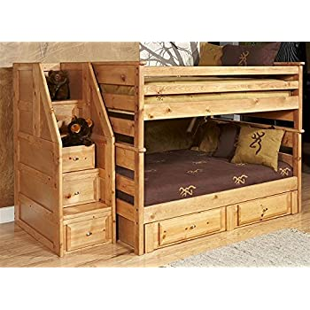 Amazon Com Full Over Full Bunk Bed With Storage And