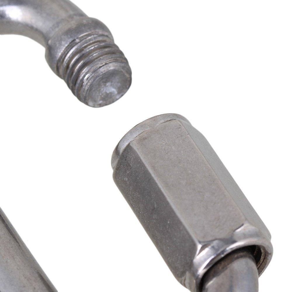 cnbtr 75/x 37/mm Edelstahl M8/Snap Haken Link Kette Schnellverschluss Karabiner mit Gewinde Mutter 2/St/ück