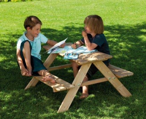 WINNETOO Kinder Picknicktisch aus Lärche