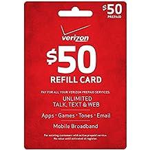 Verizon $50 Prepaid Refill Card (mail delivery)