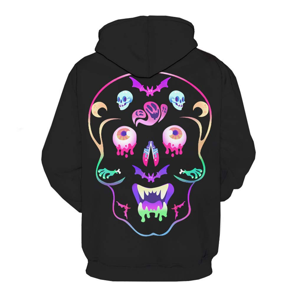 Yutao Mens Sweatshirts 3D Digital Printed Hoodies Colorful Galaxy Pattern Big Pocket Hoodie Jacket