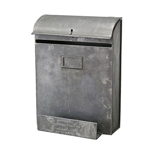 Time Concept Geshmack Metal Iron Antique Style Storage – Wall Mount Post Box with Newspaper Holder – European Retro Inspired, Tinplate Box, Home Décor For Sale