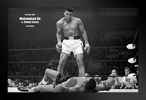 (Muhammad Ali vs Liston First Minute Knockout Framed Poster 20x14 inch)