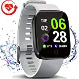 FITVII Smart Watch, Fitness Tracker with Multifunctional Sport Mode, Heart Rate & Blood Pressure Monitor with SpO2 and Sleep Tracker, Waterproof Color Screen Activity Health Tracker for Women Men