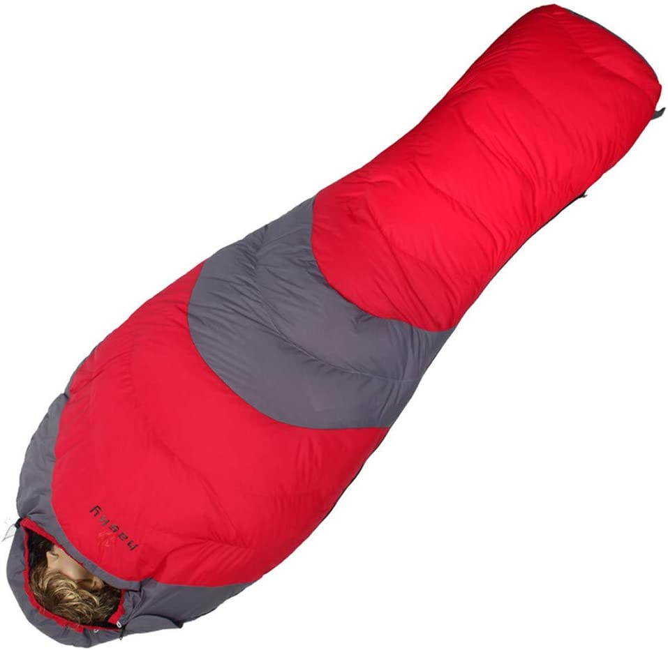 Ummy slaapzak Slaapzak for Camping Met Compression Sack Single Outdoors Ultralight Mummy Professionele Mummy Slaapzak (Color : Blue) Red