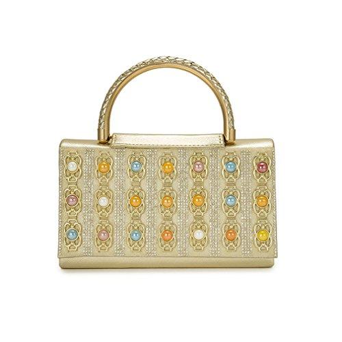 Classic Handbags Gold Bag Women Ladies Tote Bags Sling Bag ZJ Small Crystal amp;OS Handbag Bags gold X7AqA4