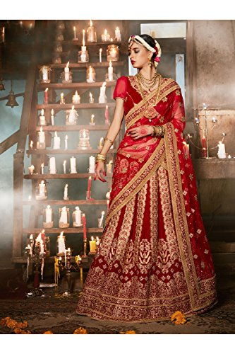 PCC Indian Women Designer Wedding Red Marron Lehenga Choli R-16677