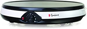 Euro Cuisine CM20 Electric Crepe Maker, White