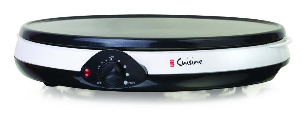 Euro Cuisine CM20 Electric Crepe Maker, White by Euro Cuisine