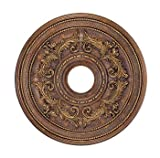 Livex Lighting 8200-30 Ceiling Medallion, Crackled Greek Bronze