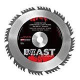 Lackmond Beast Combination Saw Blades - 10'' Wood Cutting Tool with 60 Teeth For Ripping and Crosscutting & 5/8'' Arbor - WCOMB10050S