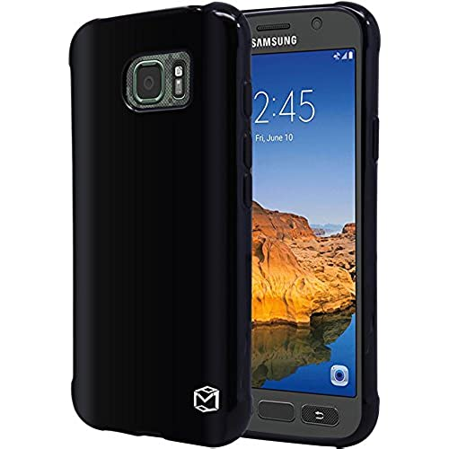 S7 Active Case, MP-Mall [Slim Fit] Premium Flexible TPU Gel Rubber Soft Skin Silicone Protective Case Cover For Samsung Galaxy S7 Active (Black) Sales