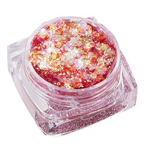 AmyDong Eye Makeup Star Patch Sequin Gel Cream Eye Shadow Glitter Powder Kit Mix Gel Glitter Eyes Loose Powder -