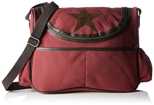 Rot weinrot Canvas sac Wickeltasche Bags4Less bandoulière wq0SSa