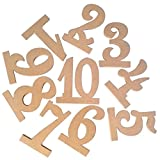 Yeefant 10Pcs/Set Wooden Wedding Table Numbers 1-10 Table Seat Card Number 3.9 Inch High Wood Cutout Home Party Event Banquet Anniversary Decoration Favors Signs Natural Color Set,3.9x3.5x0.5 Inch