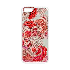 floral pattern flowers print red white iPhone 6 Case White by icecream design