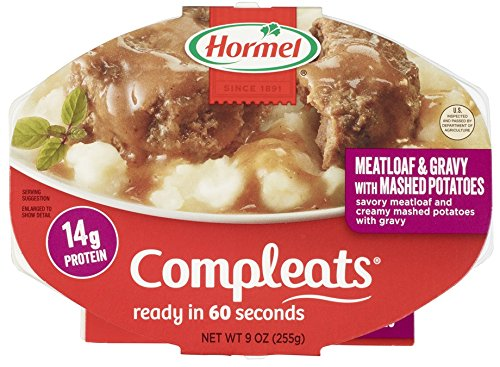 Price comparison product image HORMEL COMPLEATS Microwave Meals - Shelf Stable  - Meatloaf with Potatoes and Gravy - 9 Ounce (Pack of 6)