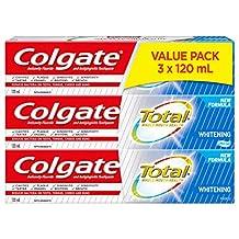 Colgate Total Toothpaste, Whitening, 3 X 120 mL