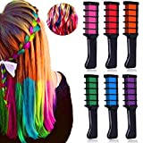 hair color brush comb - New Hair Chalk Comb Temporary Hair Dye Hair Color Brush -MSDADA Hair Chalk Comb for Adults Kids & Children - Boys & Girls Perfect Gift Idea Set for Party, Cosplayo(6 pcs)